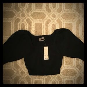Crop top sweater with ballon sleeves
